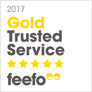 2017 Gold Trusted Service feefo