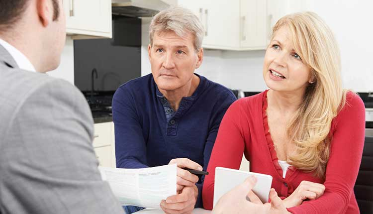 couple speaking to an expert adviser