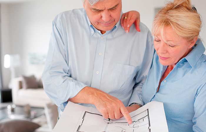 Equity release funds: couple with plans for home improvements