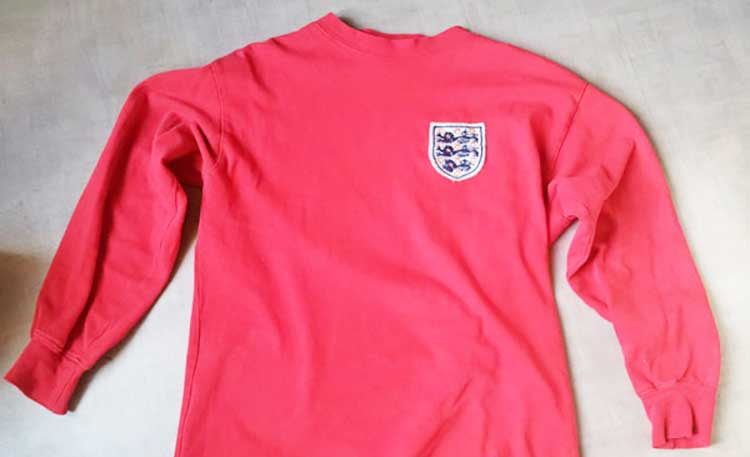 an england shirt as worn in the 1966 world cup