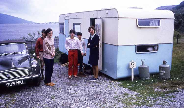 family on a carvanning holiday