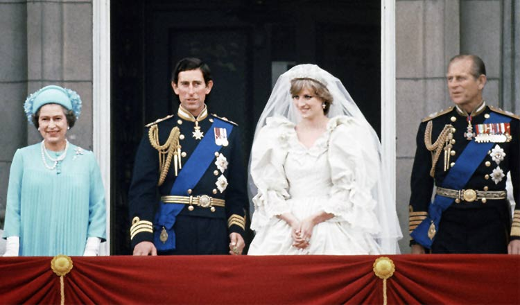 the wedding of Lady Diana Spencer to Prince Charles