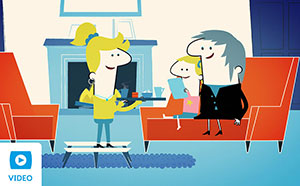 Over 50s life insurance animated video thumbnail.