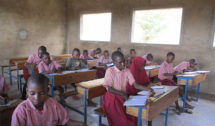 students in a school classroom in kenya
